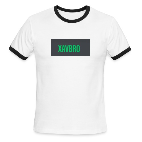 xavbro green logo - Men's Ringer T-Shirt