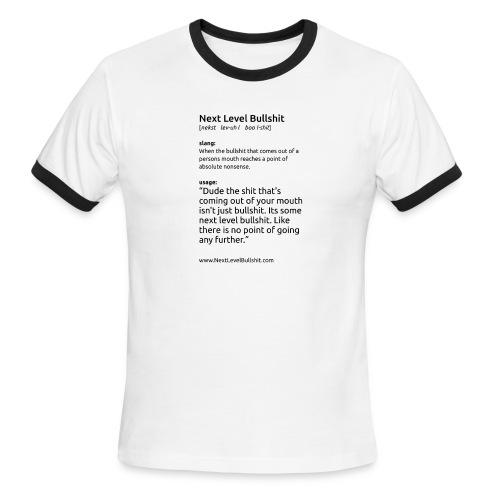 shirt slogan1 NSFW vert white png - Men's Ringer T-Shirt