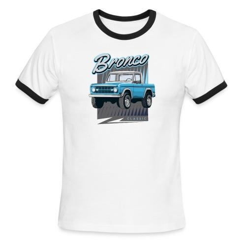 BRONCO Blue Half Cap Truck T-Shirt - Men's Ringer T-Shirt