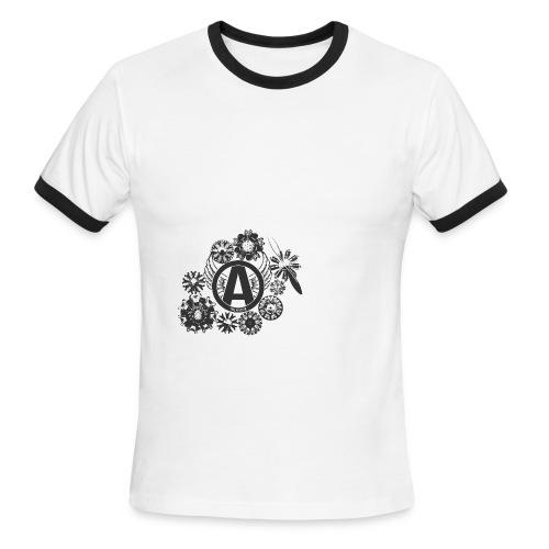 enginesavatardesignblack - Men's Ringer T-Shirt