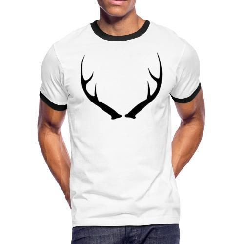 DEER ANTLERS - Men's Ringer T-Shirt
