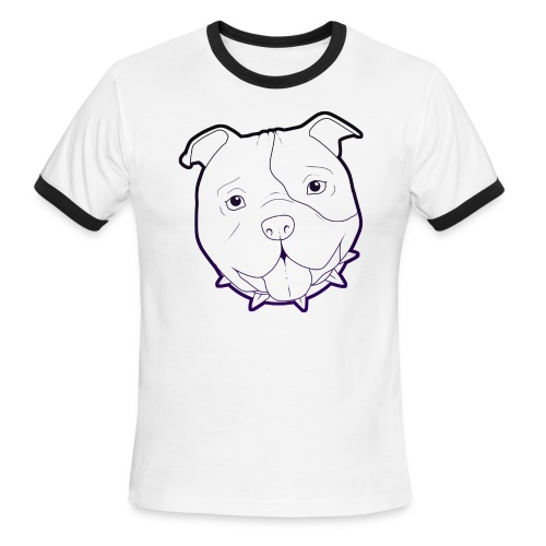 Pit Tee Outline alt. - Men's Ringer T-Shirt