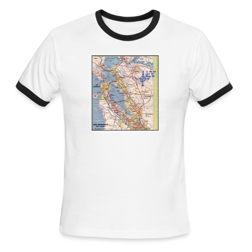 Phillips 66 Zodiac Killer Map June 26 - Men's Ringer T-Shirt