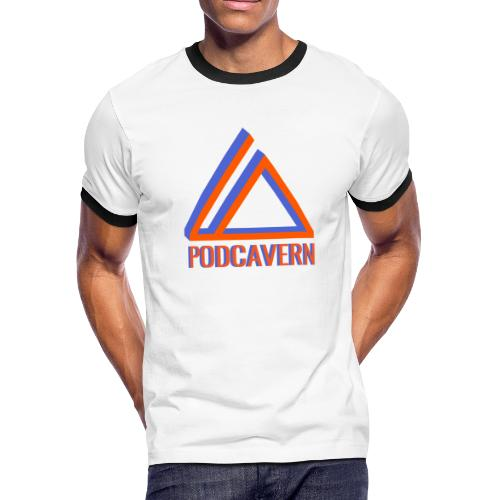 PodCavern Logo - Men's Ringer T-Shirt