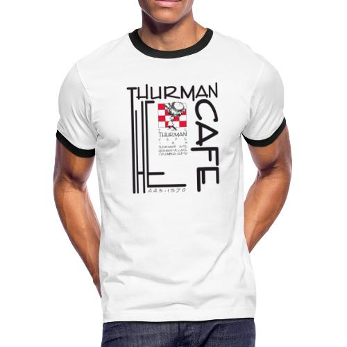 Thurman Cafe Traditional Logo - Men's Ringer T-Shirt
