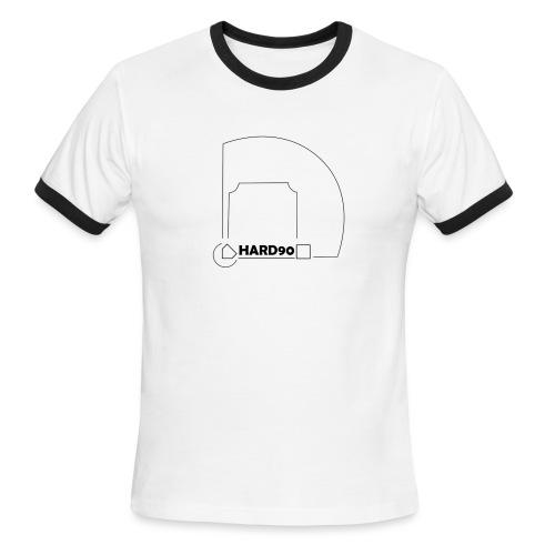 Hard 90 field - Men's Ringer T-Shirt