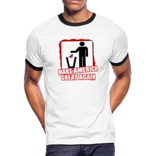 MAGA TRASH DEMS - Men's Ringer T-Shirt