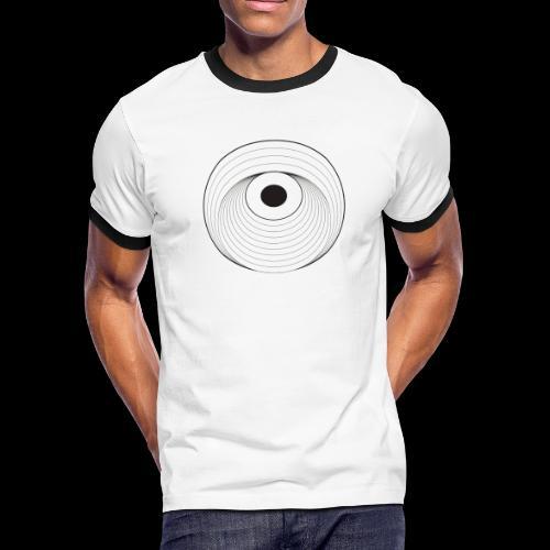 Black Dirt Vortex Logo Light - Men's Ringer T-Shirt