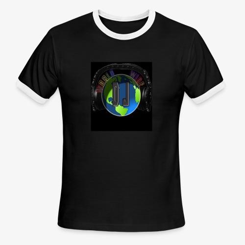 djworldwide logo - Men's Ringer T-Shirt