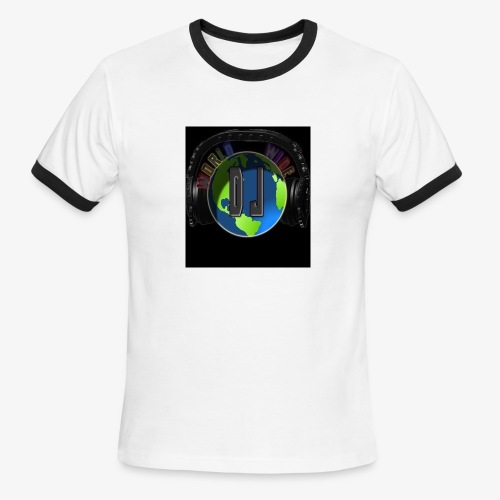 djworldwide logo - Men's Ringer T-Shirt