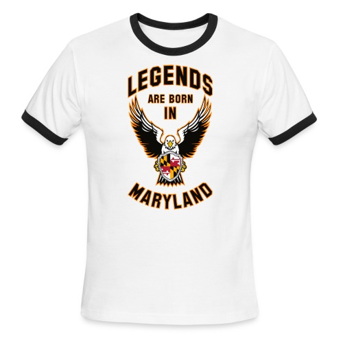Legends are born in Maryland - Men's Ringer T-Shirt