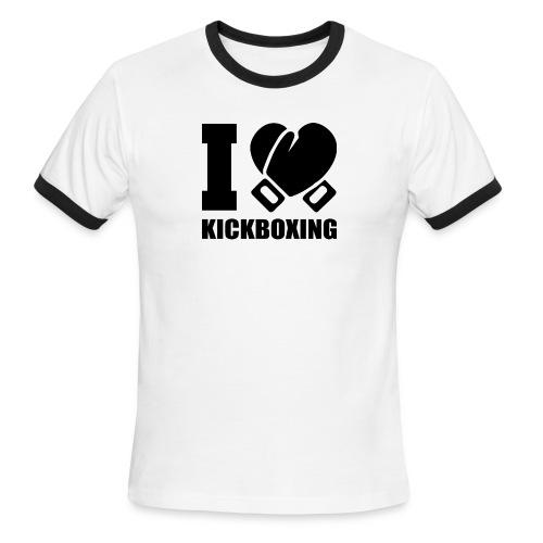 I Love Kickboxing - Men's Ringer T-Shirt