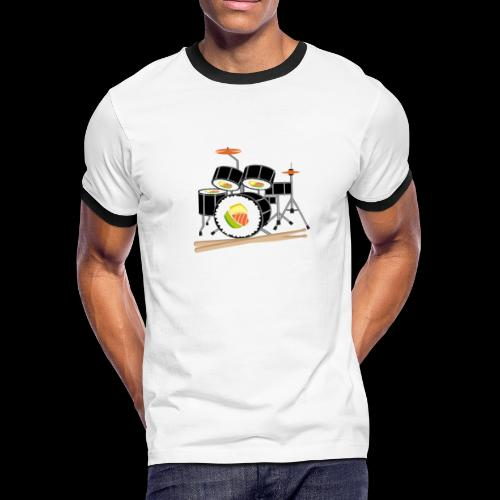 Sushi Roll Drum Set - Men's Ringer T-Shirt