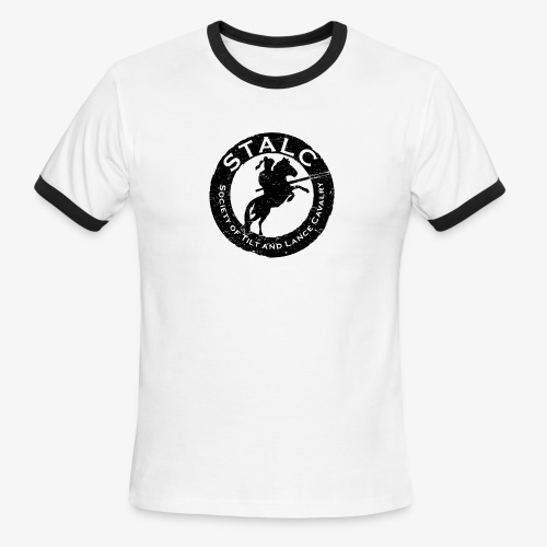 STALC Retro Logo BLACK - Men's Ringer T-Shirt