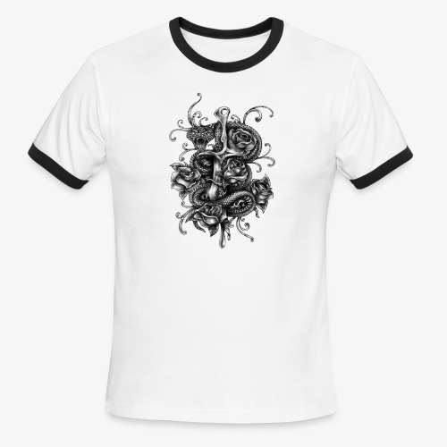 Dagger And Snake - Men's Ringer T-Shirt