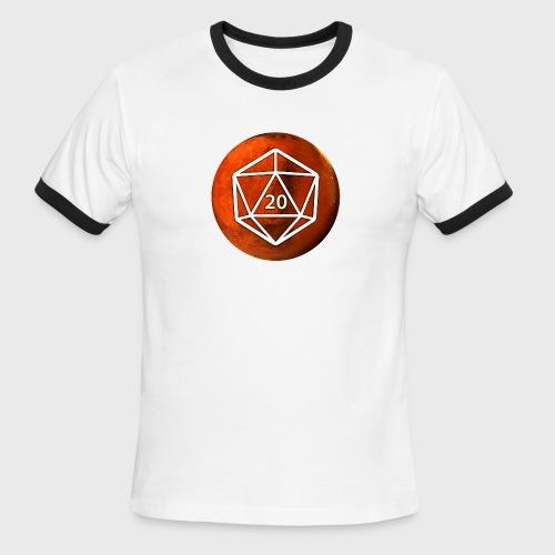 Mars d20 Astronomy Space - Men's Ringer T-Shirt