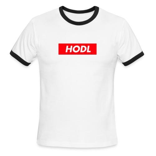Hodl BoxLogo - Men's Ringer T-Shirt