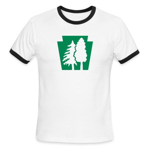 PA Keystone w/trees - Men's Ringer T-Shirt