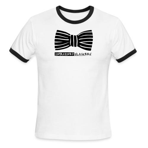 Untrained Slackers Bowtie Shirt - Men's Ringer T-Shirt