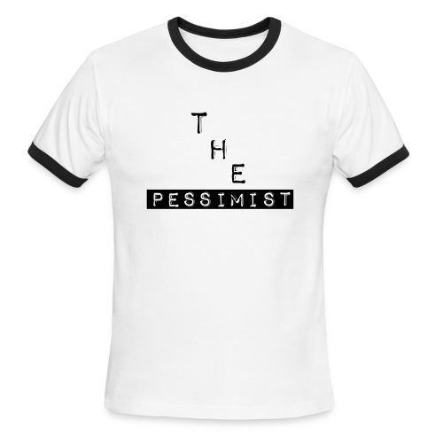 The Pessimist Abstract Design - Men's Ringer T-Shirt
