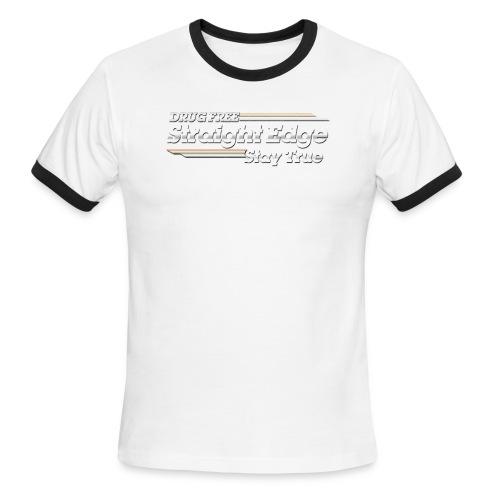 Straight Edge - Men's Ringer T-Shirt