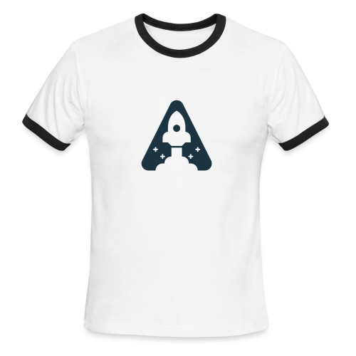 T-shirt with Space Ship. - Men's Ringer T-Shirt