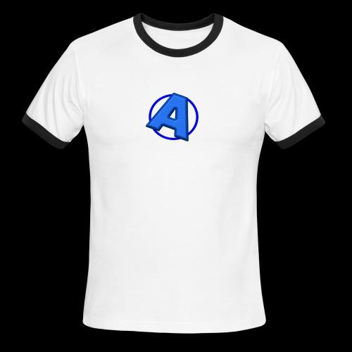 Awesomegamer Logo - Men's Ringer T-Shirt