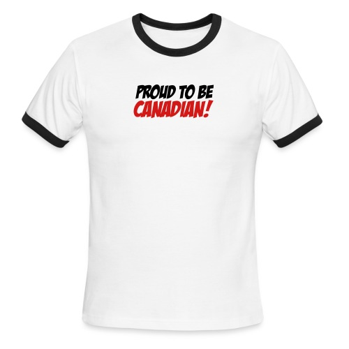 Proud Canadian - Men's Ringer T-Shirt