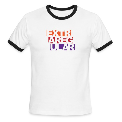 extra regular logo 2 png - Men's Ringer T-Shirt