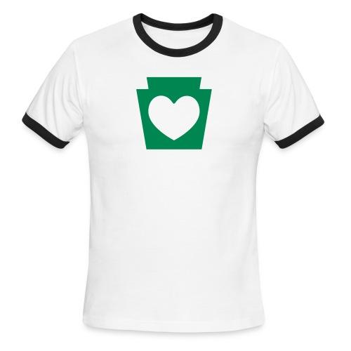 Love/Heart PA Keystone - Men's Ringer T-Shirt
