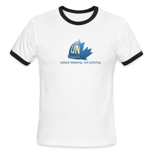Canadian Peacekeeping - Men's Ringer T-Shirt