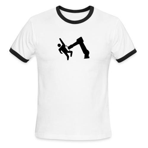 Robot Wins! - Men's Ringer T-Shirt