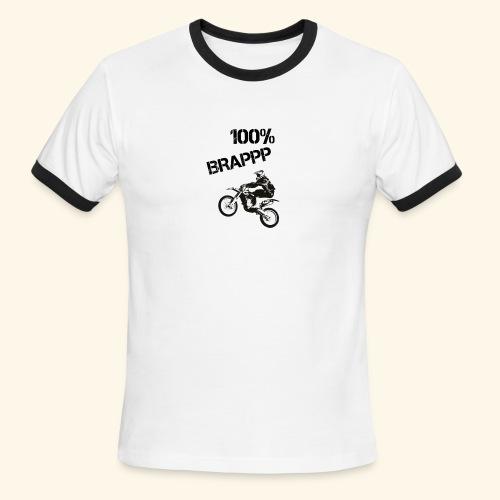 100% BRAPPP (Black and White) - Men's Ringer T-Shirt