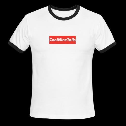 CoolNineTails supreme logo - Men's Ringer T-Shirt