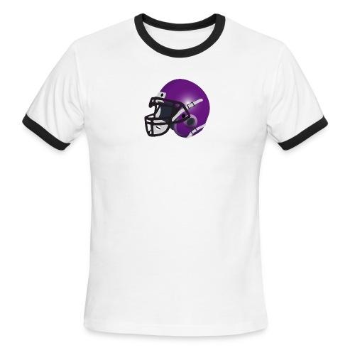 purple footbal lhelmet - Men's Ringer T-Shirt
