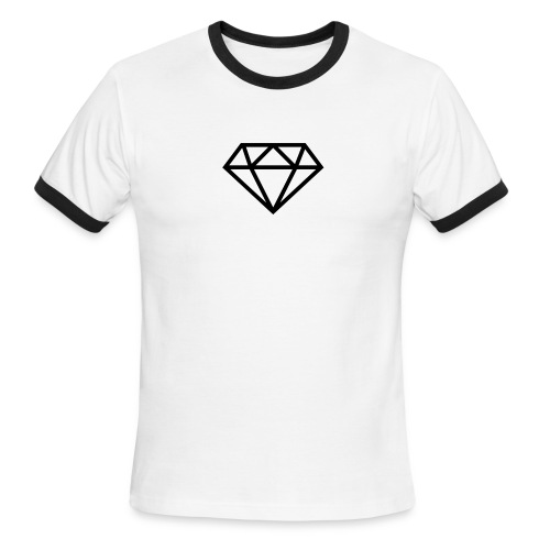 diamond outline 318 36534 - Men's Ringer T-Shirt