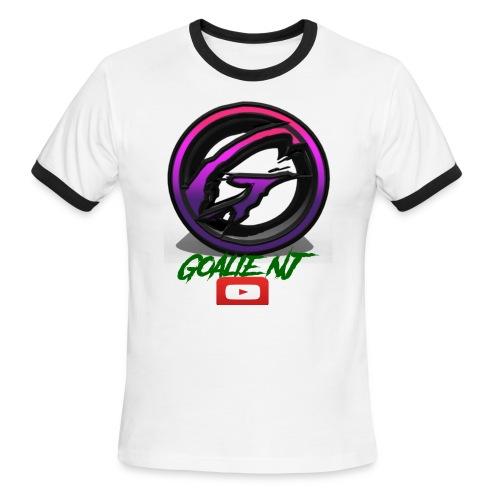 goalie nj logo - Men's Ringer T-Shirt