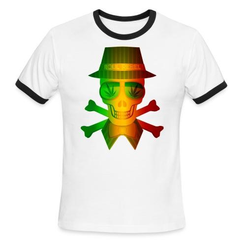 Rasta Man Rebel - Men's Ringer T-Shirt