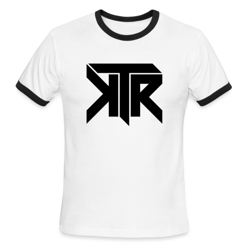 KTR Logo Black - Men's Ringer T-Shirt