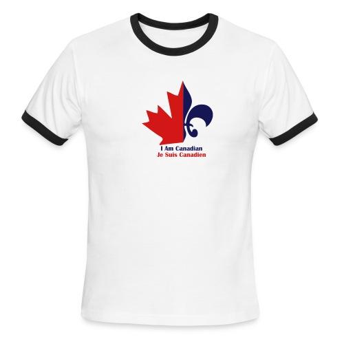 Maple Leaf Fleur de lis - Men's Ringer T-Shirt