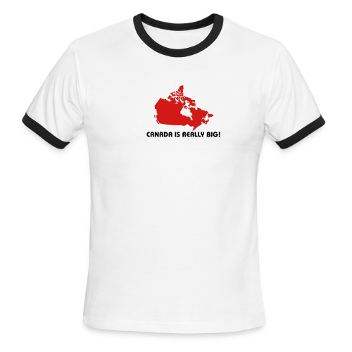 Canada is Really Big - Men's Ringer T-Shirt