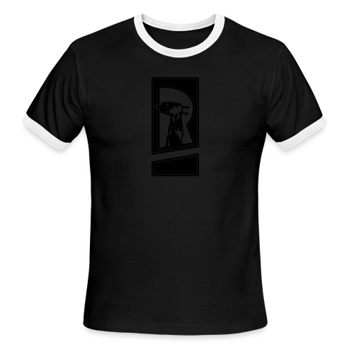 Review Spot Logo Black - Men's Ringer T-Shirt