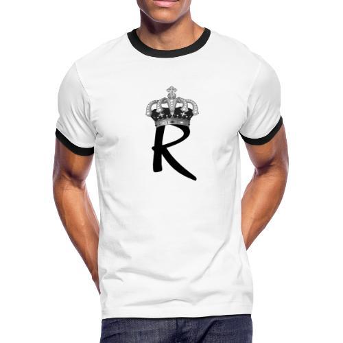 R with Crown - Men's Ringer T-Shirt