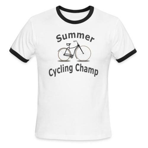 Summer Cycling Champ - Men's Ringer T-Shirt