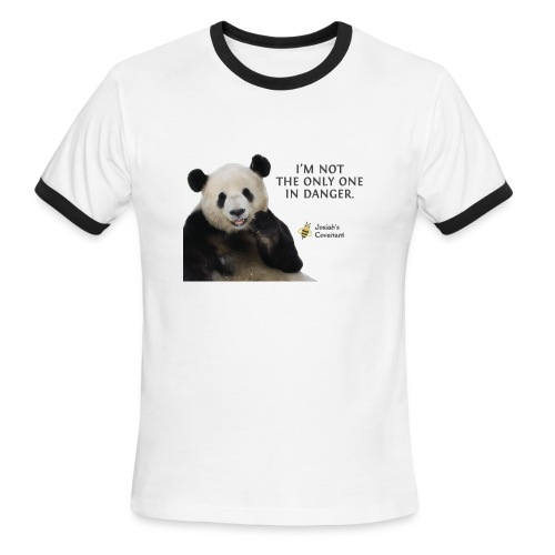 Endangered Pandas - Josiah's Covenant - Men's Ringer T-Shirt