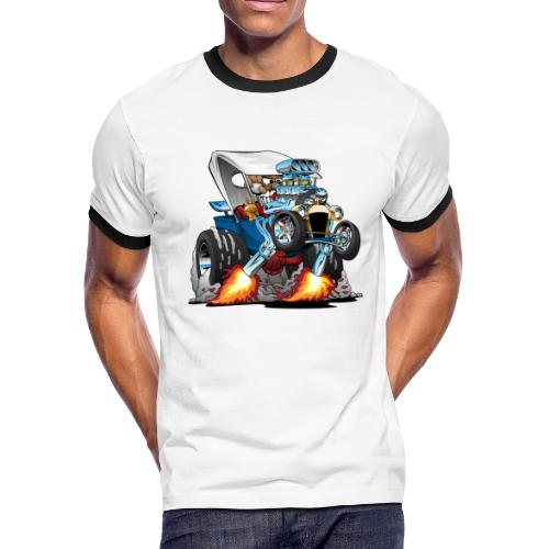 Custom T-bucket Roadster Hotrod Cartoon - Men's Ringer T-Shirt