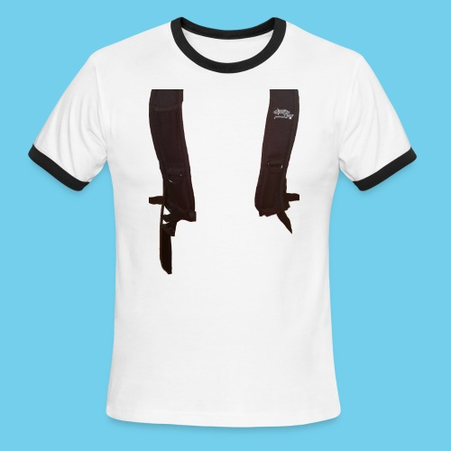 Backpack straps - Men's Ringer T-Shirt