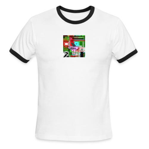 Randy Avatar Bitmap - Men's Ringer T-Shirt