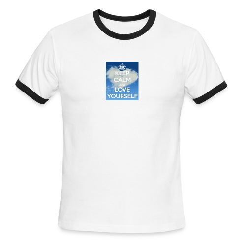 Keep calm and love yourself - Men's Ringer T-Shirt