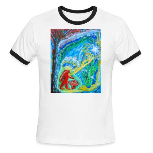 The Initiation, art by Jason Gallant - Men's Ringer T-Shirt